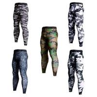 kamuflaj fitness pantolon toptan satış-Çeşitli Spor Pantolon Kamuflaj Futbol Sıkı Pantolon Elastik Kuvvet Ter Emme Tayt Spor Pantolon Erkekler Sonbahar 25htH1