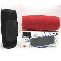 colunas para bluetooth portáteis venda por atacado-Carregador 4+ Bluetooth Speaker Subwoofer Wireless Speaker profunda Subwoofer Alto-falantes portáteis estéreo com pacote de varejo DHL