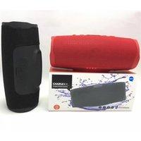 taşınabilir şarj cihazı paketleme toptan satış-Perakende Paketi DHL ile Şarj 4+ Bluetooth Hoparlör Subwoofer Kablosuz Hoparlör Derin Subwoofer Stereo Portatif Hoparlör
