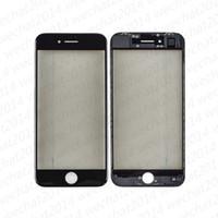 etiqueta dianteira do vidro do iphone venda por atacado-50 PCS Front Outer Vidro Lente de Vidro Da Tela de Toque com Quadro OCA Adesivo Polarizador para iPhone 6 6 s 7 8 Mais
