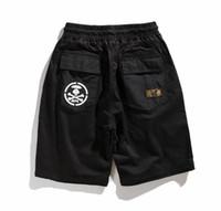 abnehmbare shorts männer großhandel-19ss neue Street Fashion Street Men AAPE abnehmbare Shorts zwei Hosen