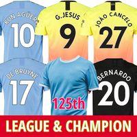 xl 125 großhandel-19 20 Manchester city Soccer Jersey 2019 2020 Stadtfußballtrikot 125. Jahrestag 125 KUN AGUERO DE BRUYNE GESUS BERNARDO MAHREZ SANE RODRIGO