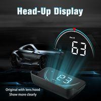 ingrosso cambia digitale per auto-Nuovo display Head Up M8 Hud Display car-styling Hud Display Overdrive Warning Proiettore parabrezza Sistema allarme auto Universal Auto