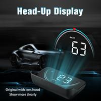 ingrosso proiettori universali-Nuovo display Head Up M8 Hud Display car-styling Hud Display Overdrive Warning Proiettore parabrezza Sistema allarme auto Universal Auto