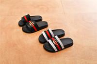 niño niña zapatillas al por mayor-Zapatillas de diseñador para niños Zapatillas de lujo Zapatillas de niño Zapatillas de niña Zapatos para adolescentes 2019 Verano Nueva moda 3 colores Zapatos casuales -