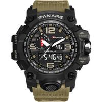 Wholesale water sports electronics for sale - Group buy PANARS Camouflage Tactical Digital Watch Men s Fashion Sports Army Watch Water Proof LED Electronic Wrist Watches With Box