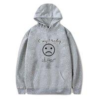 bebek ağlama toptan satış-Tasarımcı Hoodies CRY BEBEK LIL PEEP Hoodie Erkekler Genç Erkek Kapüşonlu Bahar Rahat BTS Tişörtü Tops