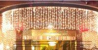 aydınlatılmış düğün zeminleri toptan satış-10 M * 1 M LED Perde Işıkları Dize 448 leds Backdrop Noel Partisi Düğün Tatil Dekorasyon Noel Peri Işıkları AC110V-220V