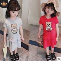 3t bilder großhandel-Berühmte Marke 2019 Sommer Mädchen Kinderkleidung Cartoon Bilder Baby Kleidung T-Shirt Mode Mädchen Baby Kleid Anzug