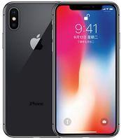 ios mobiltelefon großhandel-Ursprüngliches freigesetztes Apple iPhone X ohne Gesicht Identifikation 4G LTE 64GB / 256GB ROM 3GB RAM Hexa Kern 5,8 Zoll iOS A11 12MP überholte Mobiltelefon