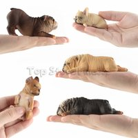 Wholesale bully toys resale online - French Bulldog Action Figures Doll Toys Bully Dog Figures Toys American bully pitbull Doll Desktop decoration