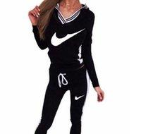 sportkleidung mode femme groihandel-heiße Verkauf Marke Mode Anzug Frauen-Sport-Klage Hoodie + Pant Jogging Femme Marque survêtement Sport 2er Set