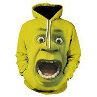 sudadera swag al por mayor-3D Shrek Hoodies Hooded Mujer Hombre Marvel Comics Sudor Verde Sudaderas Streetwear Harajuku de Gran Tamaño Divertido Swag Ropa Elegante