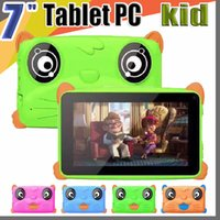 Wholesale hot pink android tablet online – 2019 HOT Kids Brand Tablet PC quot inch Quad Core children tablet Android Allwinner A33 google player MB RAM GB ROM EBOOK
