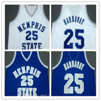 Wholesale mens throwback shirts for sale - Group buy Cheap High Quality Penny Hardaway Memphis State Throwbacks Basketball Jerseys Mens Stitched Embroidery Jersey Shirt Custom any Numb
