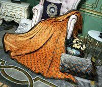flanela de lã venda por atacado-Luxo Cobertor Clássico Strangor Cobertores Dupla face impressa flanela cobertor de lã de coral com extra200 * 230 cm Cobertores para cama Sofá BL05