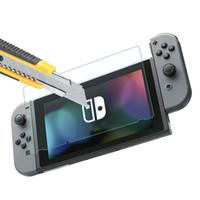 ingrosso interruttore lcd-9H Pellicola proteggi schermo in vetro temperato per Nintendo Switch Pellicola protettiva per schermo LCD Cover per Nintend Switch NS Accessori per schermo nintend 2ds