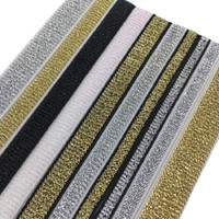 Wholesale garment elastic resale online - Gold Silver Glitter Elastic Bands mm Rope Rubber Band Line Ribbon Sewing Lace Trim Waist Band Garment Accessory DIY