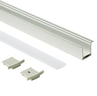 Wholesale aluminum industrial extrusion for sale - Group buy Surface mounting led aluminum profile housing and T type profile extrusion with pc milky cover for ceiling or recessed wall lamp