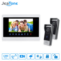 Wholesale door bell buttons for sale - Group buy JeaTone quot Video Door Bell Phone IR Night TVL Doorbell camera and TFT Hands free Touch Button Intercom System Kit