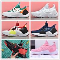 erkekler için huarache toptan satış-2019 Erkek Kadın Huarache E. G TXT QS Koşu Ayakkabıları Huaraches 7 KENAR Üçlü siyah beyaz Atletik Spor Açık Sneakers 40-45