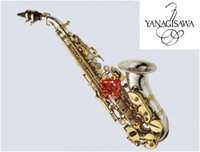 Wholesale nickel soprano saxophone resale online - Best quality New YANAGISAWA SC Curved Professional Soprano Saxophone Nickel Brass Sax Mouthpiece Patches Pads Reeds Bend Neck Gift