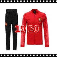 Wholesale chinese tracksuits for sale – designer 2019 Chinese red soccer tracksuit Guangzhou Evergrande the china national team Hengda jacket Jersey football uniform