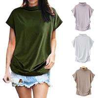 ingrosso camicia di camicetta delle grandi donne di formato-shirt da donna Estate Donna Tuniche coreano camicette casuali Blusas dolcevita camicetta sexy estate camice Solid Big Size S-6XL