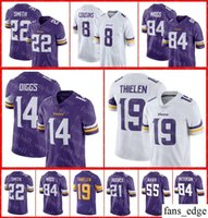 Minnesota Jersey 8 Kirk Cousins 19 Adam Thielen Harrison Smith 14 Stefon  Diggs 33 Dalvin Cook Vikings 97 Everson Griffen Football Jerseys 50f3a780a