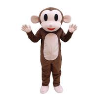 trajes de macaco para adultos venda por atacado-Traje adulto dos desenhos animados do traje feito sob encomenda da mascote do macaco de Brown com o fã para a promoção da propaganda comercial