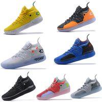 zapatillas kevin durant al por mayor-Kevin Durant 11 11s Zapatillas de baloncesto para hombre Zapatillas de diseñador Zoom Zapatillas deportivas para hombre Zapatillas de deporte de lujo blancas EP Elite Low Sport Sneaker