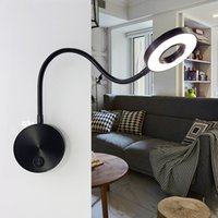 Wholesale hoses home online - Modern fashion Book Lights Aluminum W LED Hoses Wall Lamp Flexible Home Hotel Bedside Reading Lamp Wall Light