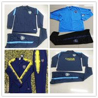 Wholesale futbol jacket for sale - Group buy 2018 Camisetas de futbol Boca Juniors tracksuits Survetement Maradona Maillot Foot full zipper football training jackets