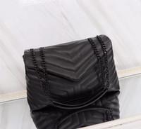 ingrosso borsa dell'annata di modo-Vendite calde Più nuovo stile V Tipo di buona qualità 31 centimetri Womens Leather Fashion casual Borse di marca vintage Catene d'argento borse a spalla totes borsa