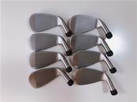 ferros ajustados da esquerda venda por atacado-Clubes de golfe da mão esquerda A3 718 Conjunto de ferro 718A3 Ferros forjados Clubes de golfe 3-9Pw eixo de aço com tampa da cabeça