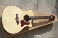 Wholesale built guitar resale online - HGFD Hot selling High Quality Spruce Solid Taylor K24CE Strings Electric Acoustic Guitar built in EQ Pickups edsw