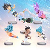 anime figur drachen ball gesetzt großhandel-6 teile / satz Dragon Ball Action Figure Super Dragonball Figur PVC Anime Cartoon Sammeln Modell Spielzeug Spielzeug Geschenk Kinder # E