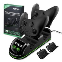 Wholesale xbox one rechargeable resale online - Oivo Dual Controller Charger For Xbox One one S one X Charging Status Display Screen Station Dock Rechargeable Battery Pack J190427