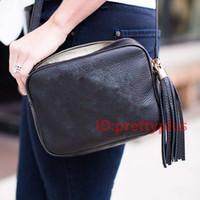 rucksack-brieftasche großhandel-Leder quaste Marke Mode Frauen Designer Luxus Handtaschen Geldbörsen Soho Disco Rucksack Geldbörsen Crossbody Taschen 2019