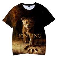 erkek gündelik gömlek giymek toptan satış-2019 YENI Film zafer krallığı Kral Aslan Kral Simba 3D Çocuk giyim Erkek / kız çocuklar Rahat t gömlek Kısa Kollu Giysiler