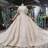 Wholesale shells training for sale - Group buy 2019 Summer Latest Wedding Dresses Backless Lace Up Back Detachable Shell Chest Off the Shoulder Short Sleeve Sweetheart Neck Bridal Gowns