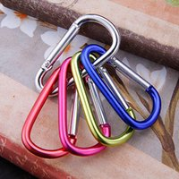 Wholesale keys carabiner for sale - Group buy Carabiner Ring Keyrings Key Chain Outdoor Sports Camp Snap Clip Hook Keychains Hiking Aluminum Metal Stainless Steel Home Supplies WX9