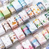 flores de papel japonês venda por atacado-3 pçs / lote Washi conjunto de fita adesiva pétala animal flor papel masking tapesFlamingo japonês fita Washi Diy Scrapbooking etiqueta 2016