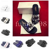 Wholesale women flat booties for sale - 2019 Designer fashion Men Beach Slide Sandals Medusa Slippers Mens women luxury pool chaussures casual shoes
