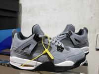 precio rebajado de las zapatillas de deporte de los hombres al por mayor-IV 4 Cool Gray Men Basketball Shoes zapatillas 4s Chrome Dark Charcoal Athletic Zapatillas de deporte al aire libre precios de descuento Con caja