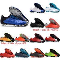 Wholesale original leather shoe for men resale online - 2018 original soccer cleats Hypervenom Phantom III FG low top neymar boots cheap soccer shoes for men authentic football boots mens new