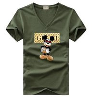 neue hemden kurze designs mädchen großhandel-Neues Sommerfrauen-Mann-beiläufiges T-Shirt Jungenmädchen t-Stück italienischer Entwurf Kurzhülse Druckobers-Kursteilnehmer T-Shirts # 058