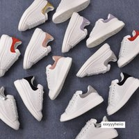 Wholesale large size shoes for women resale online - Genuine Leather Lace up Sneakers Women Flat Shoes New Fashion Comfortable White Shoes For Women Hot Sell Shoes Large Size