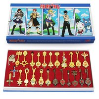 Wholesale fairy tail lucy keychain resale online - Toys Hobbies Action Toy Figures set cm Fairy Tail Lucy Cosplay Keychain Scale Free Pink Tattoo Heartfilia Sign of the Zodiac