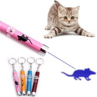 Wholesale animation accessories resale online - Portable Creative Funny Cat Laser LED Pointer Pet Kitten Training Toy light Pen With Bright Animation Mouse Shadow Accessories